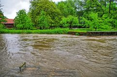 High water and flood Royalty Free Stock Images