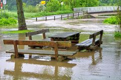 High water and flood Royalty Free Stock Photo