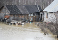 High water. The house suffered from a flood Stock Images