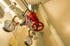 High water pressure emergency valve Royalty Free Stock Photo