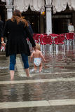 High water in Venice Stock Photo