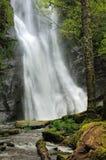 High waterfall. Fast flowing waterfall in A Fonsagrada, Ludo, Spain Royalty Free Stock Photo