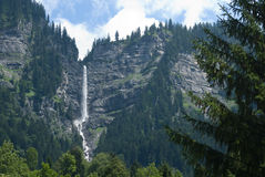 High waterfall in Austria Stock Photo