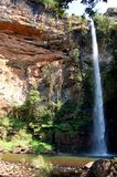 High Waterfall Cascade. Image of the Forest waterfall in South Africa Stock Photography