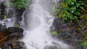 High waterfall in the rainforest on the island of Mindoro in Phi Stock Photo