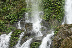 High waterfall in the rainforest on the island of Mindoro in Phi Royalty Free Stock Image