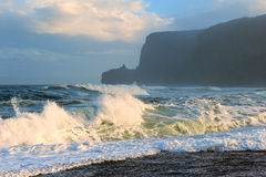 High waves on the beach after a storm. Stock Image