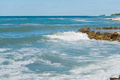 High waves and in Istria, Croatia Royalty Free Stock Photos