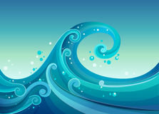 High waves at the sea Royalty Free Stock Photography