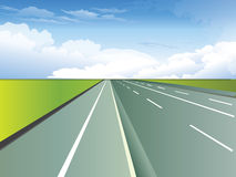 High way. Vector illustration of high way Stock Images
