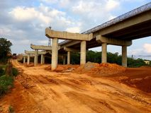 High way construction, China countryside royalty free stock photos