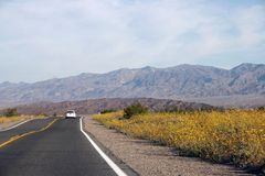 High way cross death valley Stock Image