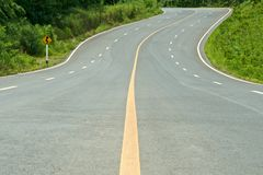High way curve road Stock Image