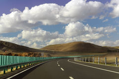 High way in Inner mongolia Royalty Free Stock Images