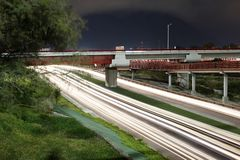 High way. Long exposure picture of a high way in Monterrey Mexico Stock Photo