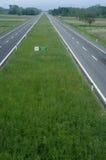 High way straight. Across Italian country Stock Photo