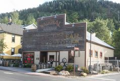 The High West Distillery in Park City. Utah stock images
