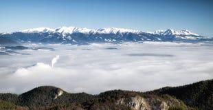 High and West Tatras from hill Maline, Slovakia Stock Photo
