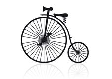 High wheel bicycle. Vector illustration of a historical high wheel bike Royalty Free Stock Images