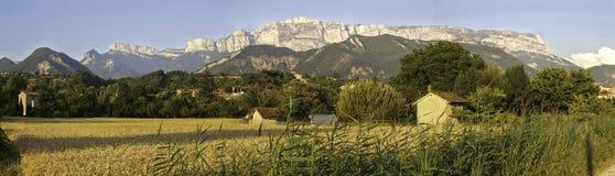 Montagne du Glandasse close to Die in France stock photos