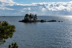 Free High Wiew Point Looking Out Over The Lake Vaettern In Sweden Stock Photography - 115599592