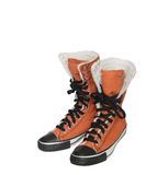 High Winter Sneakers Royalty Free Stock Photo