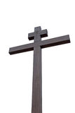 High wooden cross Stock Photography