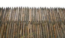 High wooden stockade. Stock Photos