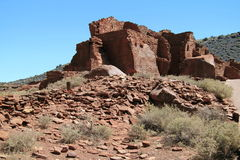 High Wupatki Pueblo Ruins Royalty Free Stock Photo