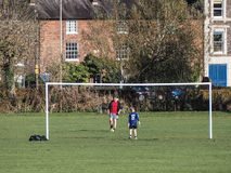 High Wycombe, Regno Unito - 9 novembre 2014: Campo sportivo di High Wycombe Fotografie Stock Libere da Diritti