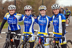 High Wycombe womens cycling race team Royalty Free Stock Image