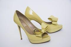 High yellow shoes Stock Photos