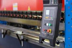 Highaccuracy böjande maskin för metallark Royaltyfria Foton