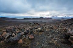Highand στο ηλιοβασίλεμα στην Ισλανδία Στοκ φωτογραφία με δικαίωμα ελεύθερης χρήσης