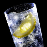 Highball Glass. Liquid pouring into a highball glass Stock Images