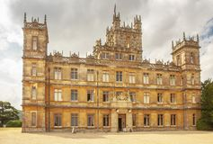 Highclere castle famous as downton abbey newbury UK. Highclere castle famous as downton abbey newbury England Stock Images