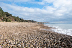 Highcliffe Castle Pebble Beach, Dorset Stock Image