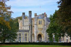 Highcliffe Castle, Dorset, England. Highcliffe Castle is the premier wedding venue on the South Coast, Dorset, Christchurch, England Royalty Free Stock Images