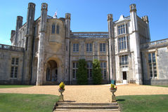 Highcliffe Castle, Dorset. Entrance to Highcliffe Castle, Dorset Stock Image