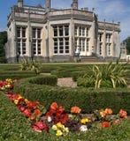 Highcliffe Castle, Dorset. Facade and flower garden at Highcliffe Castle, Dorset Royalty Free Stock Photos