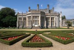 Highcliffe Castle, Dorset. Facade and flower garden at Highcliffe Castle, Dorset Royalty Free Stock Image