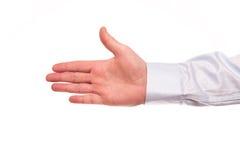 highen för händer 3d framför upplösningsshake Royaltyfria Foton
