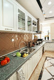 Highend kitchen design Royalty Free Stock Photography