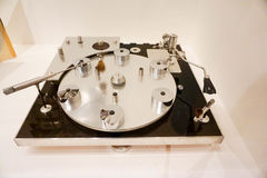 Highend vintage audiophile record player Stock Photos