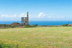Higher Bal tin mine engine house remains Royalty Free Stock Image