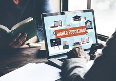Higher Education Academic Bachelor Financial Aid Concept stock image