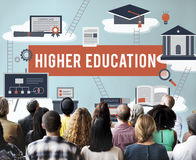 Higher Education Academic Bachelor Financial Aid Concept stock images