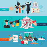 Higher Education Banner Set Royalty Free Stock Photos
