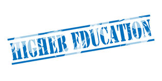 Higher education blue stamp Stock Photography