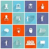 Higher Education Icons Flat Stock Photo